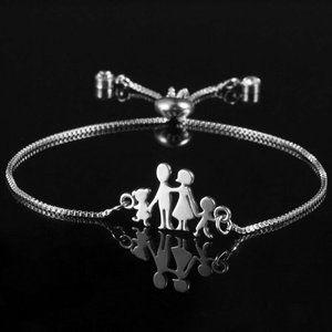 Family Love girl & Boy Adjustable Bracelet
